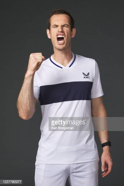 Andy Murray poses for a portrait prior to the St. James's Place Battle of the Brits Team Tennis at National Tennis Centre on July 26, 2020 in London,...