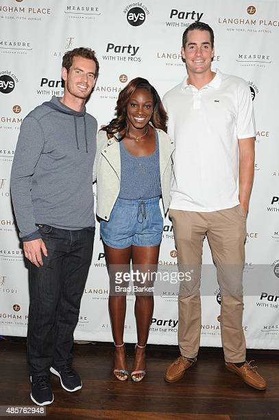 Andy Murray Sloane Stephens and John Isner attend Party with the Pros during Taste Of Tennis Week at Langham Place on August 29 2015 in New York City