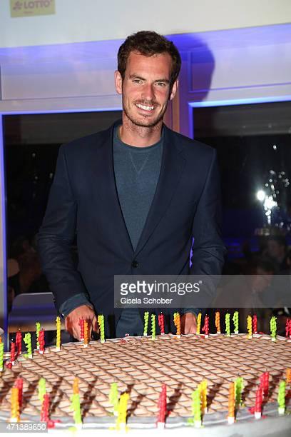 Andy Murray Wimbledon Winner 2014 during the '100 Jahre Internationale Tennismeisterschaften von Bayern' Gala Evening on April 27 2015 in Munich...