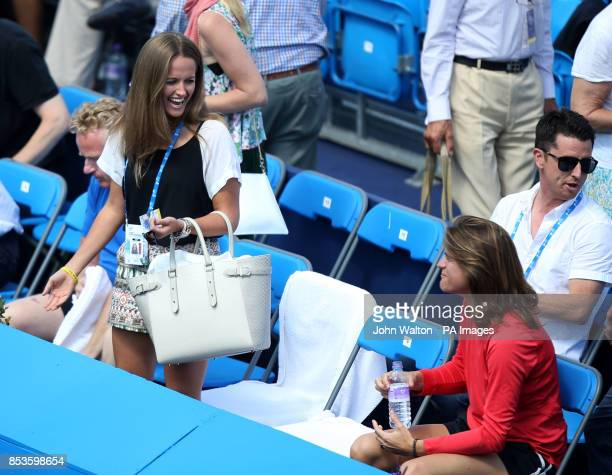 Andy Murray's girlfriend Kim Sears has a laugh with his coach Amelie Mauresmo before his match against Radek Stepanek during the AEGON Championships...