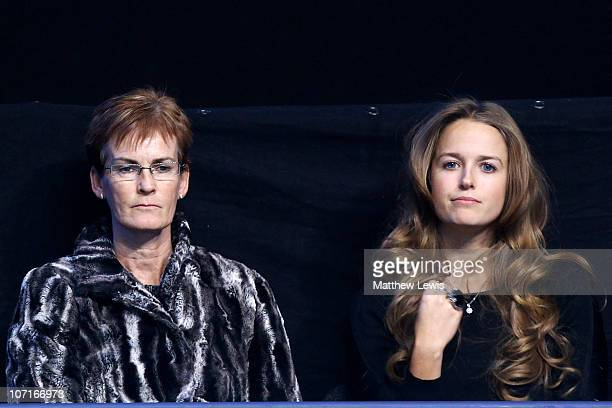 Andy Murray's mother Judy Murray and Andy Murray's girlfriend Kim Sears watch the Andy Murray and Rafael Nadal men's semifinal match against of Spain...