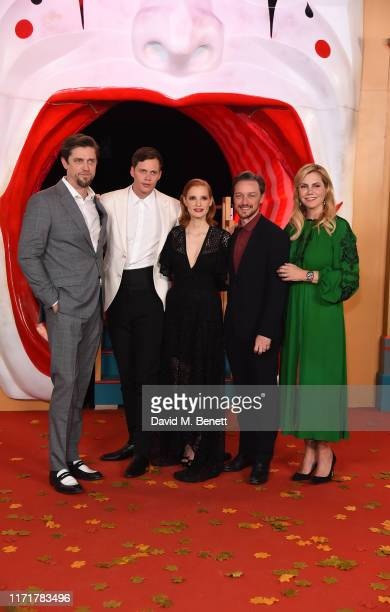 Andy Muschietti Bill Skarsgård Jessica Chastain James McAvoy and Barbara Muschietti attend the European Premiere of IT Chapter Two at The Vaults...