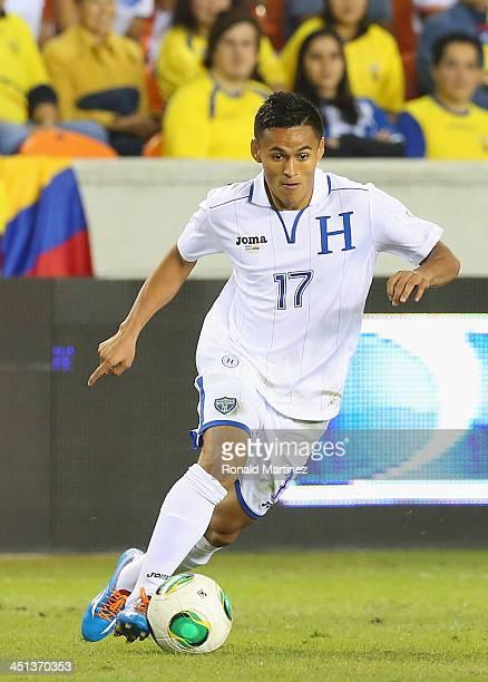 Andy Najar#17 of Honduras during an international friendly match at BBVA Compass Stadium on November 19 2013 in Houston Texas