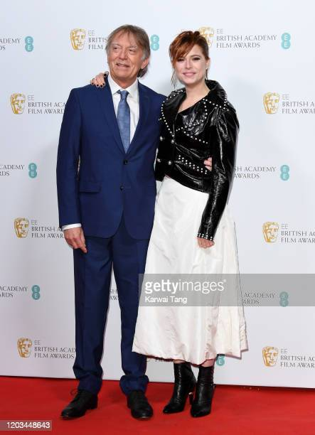 Andy Nelson and Jessie Buckley attend the EE British Academy Film Awards 2020 Nominees' Party at Kensington Palace on February 01 2020 in London...