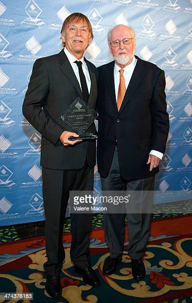 Andy Nelson and John Williams attend the 50th Annual CAS Awards From The Cinema Audio Society at Millennium Biltmore Hotel on February 22 2014 in Los...
