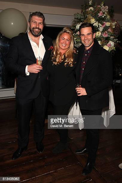 Andy Newman Sinclair Sellers and Gethin Jones attend the Maids To Measure cocktail party celebrating the new partnership with Touker Suleyman at Home...