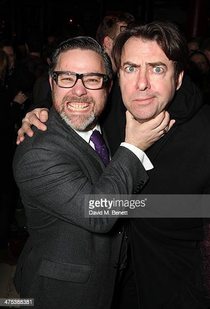 Andy Nyman and Jonathan Ross attend the after party for the press night of Ghost Stories at on February 27 2014 in London England