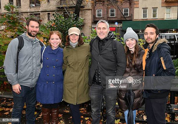 Andy Ostroy the Executive Director of the Adrienne Shelly Foundation and AdrienneÕs widow along with family and friends attend honorary planting in...