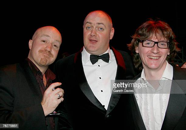 Andy Parson Dara O'Briain and Ed Byrne attend the British Comedy Awards at London Studios December 5 2007 in London England