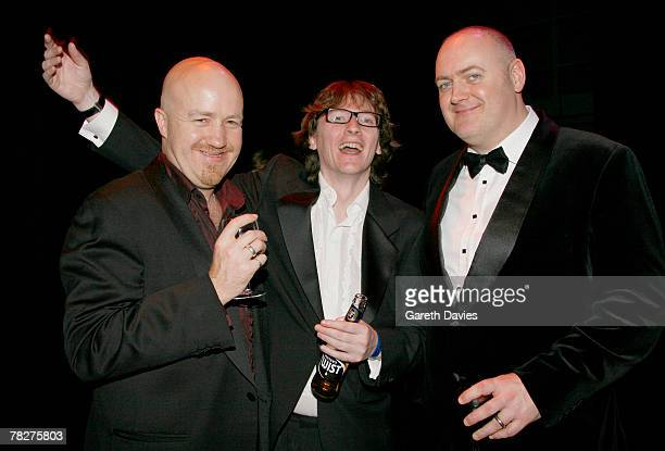 Andy Parson Ed Byrne and Dara O'Briain attends the British Comedy Awards at London Studios December 5 2007 in London England