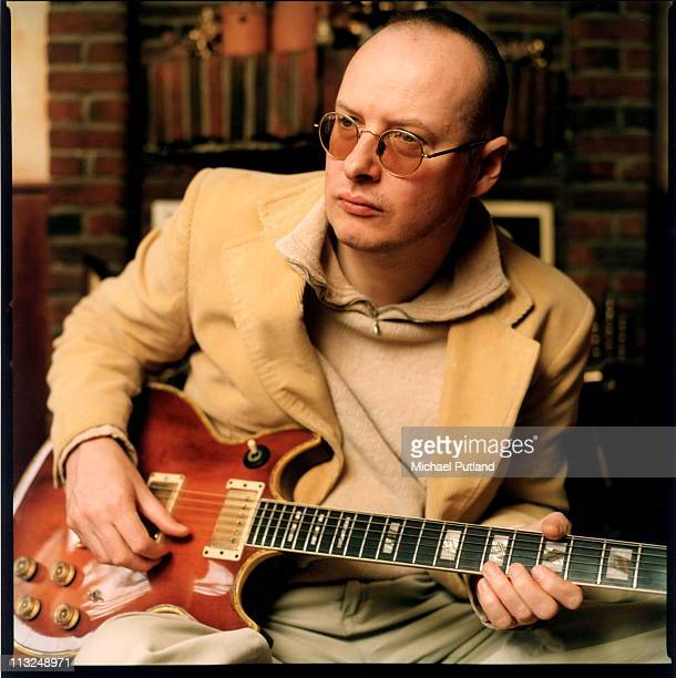 Andy Partridge formerly of XTC portraits at home in Swindon March 2000