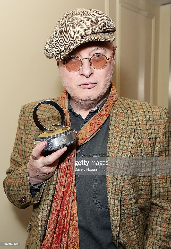 Andy Partridge with his Q Songwriter award at the Xperia Access Q Awards at The Grosvenor House Hotel on October 22, 2014 in London, England.