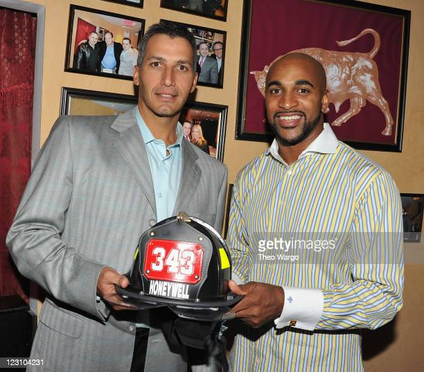 Andy Pettite and David Tyree attend the 2011 World Police Fire Games Family Night Dinner at Empire Steak House on August 30 2011 in New York City