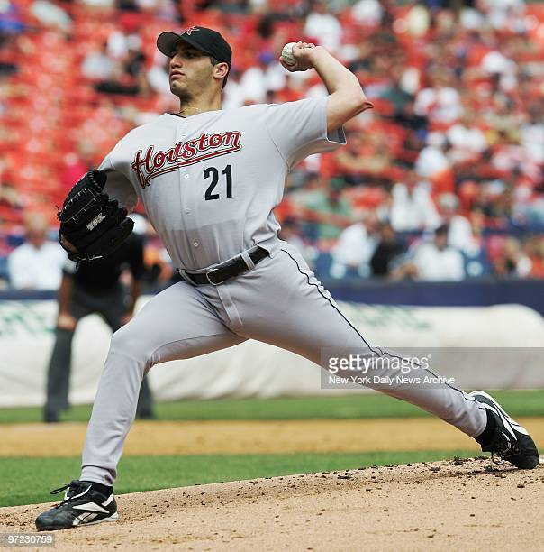 Andy Pettitte is on the mound for the Houston Astros in a game against the New York Mets at Shea Stadium The former Yank stalwart gave up four hits...