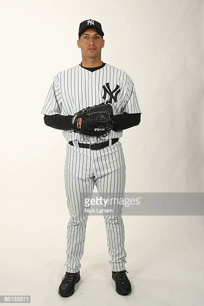 Andy Pettitte of the New York Yankees poses during Photo Day on February 19 2009 at Legends Field in Tampa Florida