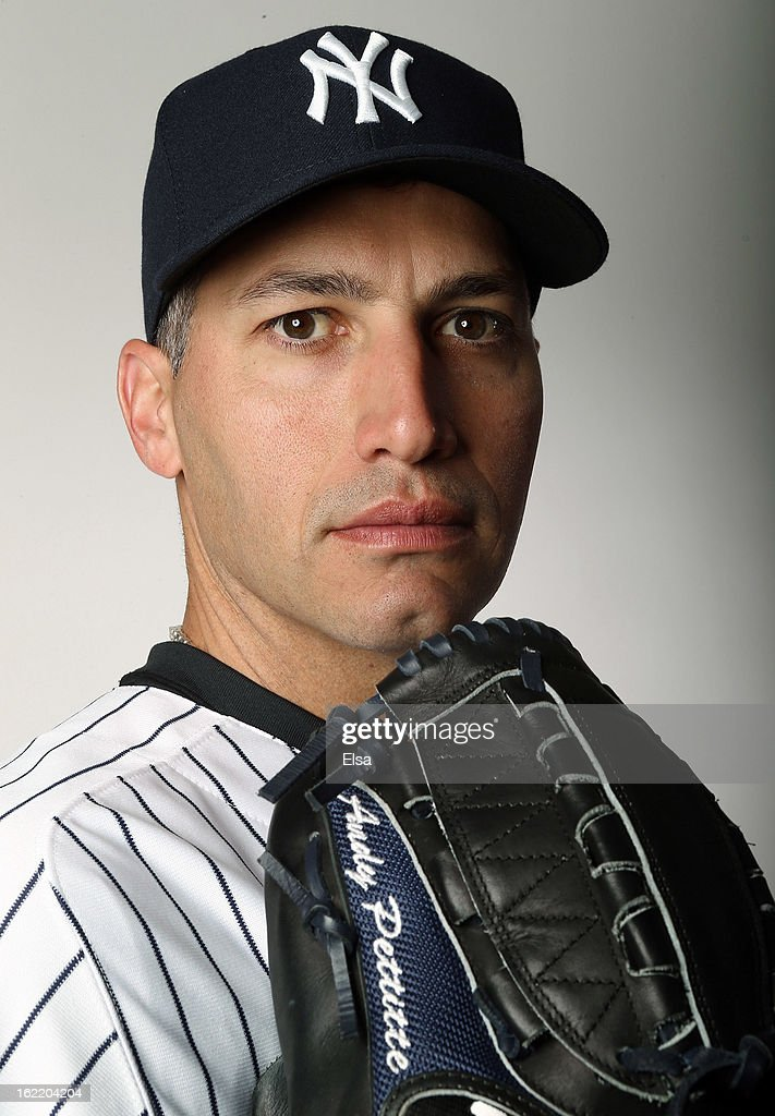 Andy Pettitte #46 of the New York Yankees poses for a portrait on February 20, 2013 at George Steinbrenner Stadium in Tampa, Florida.