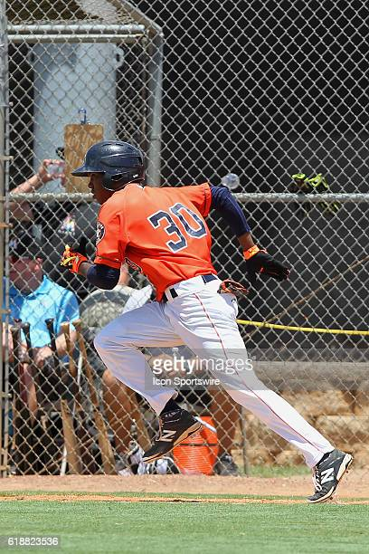 Andy Pineda of the Astros during the Gulf Coast League game between the GCL Marlins and the GCL Astros at the Osceola County Stadium complex in...