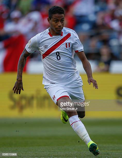 Andy Polo of Peru in action against Haiti during the 2016 Copa America Centenario Group B match at CenturyLink Field on June 4 2016 in Seattle...