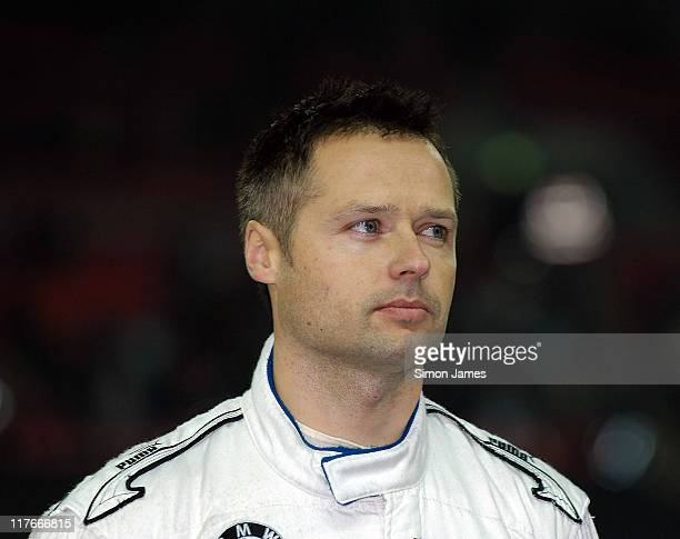 Andy Priaulx during a tribute to late rally driver Colin McRae at The Race Of Champions on December 16 2007 in London England
