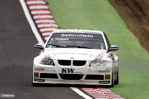 Andy Priaulx of Great Britain and BMW Team UK in action during free practice for the FIA World Touring Car Championship on May 20 2006 at Brands...
