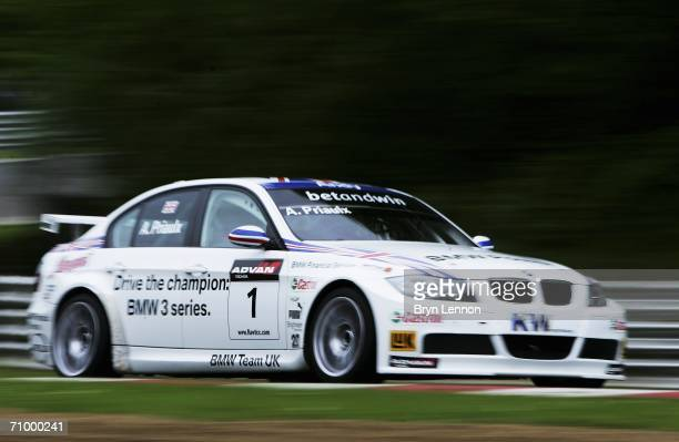 Andy Priaulx of Great Britain and BMW Team UK in action during warm-up for the FIA World Touring Car Championship on May 21, 2006 at Brands Hatch,...