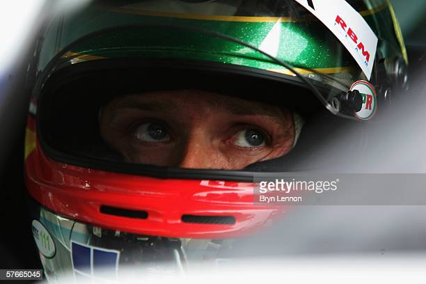Andy Priaulx of Great Britain and BMW Team UK prepares to qualify for the FIA World Touring Car Championship on May 20 2006 at Brands Htach England