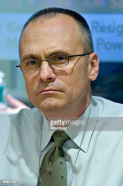 Andy Puzder chief executive officer of CKE Restaurants Inc listens to a question during an interview at Bloomberg headquarters in New York on March 9...