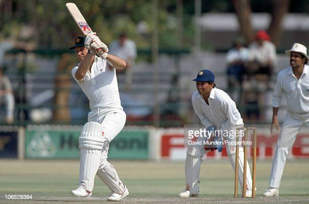Andy Pycroft batting for Zimbabwe during the inaugural Test match between Zimbabwe and India at the Harare Sports Club 22nd October 1992 The Indian...