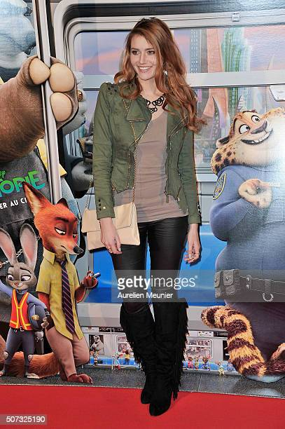 Andy Raconte attends the 'Zootopie' Paris premiere at Gaumont Champs Elysees on January 28 2016 in Paris France