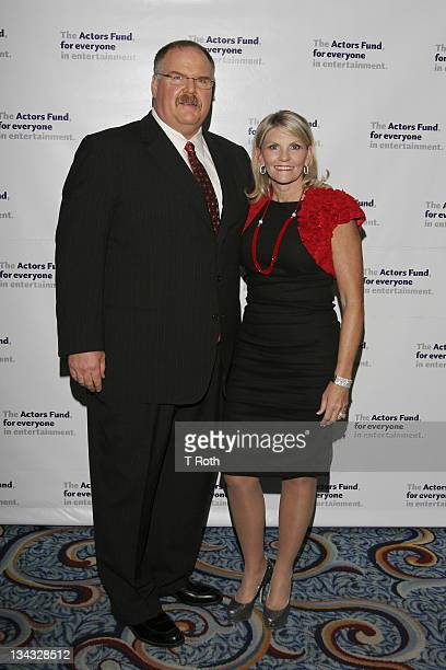 Andy Reid and Tammy Reid attends the 2011 Actors Fund Gala at Marriot Marquis on May 23 2011 in New York City