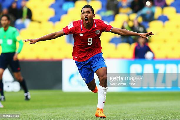 Andy Reyes of Costa Rica celebrates his team's second goal during the FIFA U17 World Cup Chile 2015 Group E match between South Africa and Costa Rica...