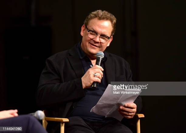Andy Richter speaks onstage at the Netflix Adult Animation QA and Reception on April 20 2019 in Hollywood California