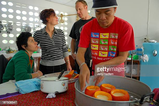 Andy Ricker owner and chef of the awardwinning PokPok restaurant in Portland Ore USA explains how to make Thai desserts to Bernadette Estrada and...