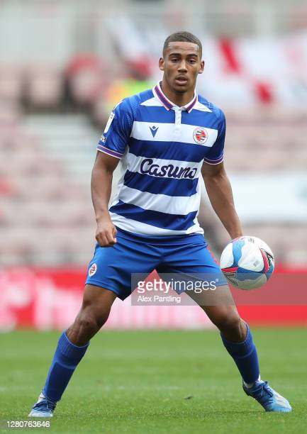Andy Rinomhota of Reading during the Sky Bet Championship match between Middlesbrough and Reading at Riverside Stadium on October 17 2020 in...