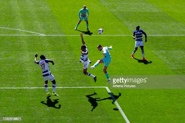 Andy Rinomhota of Reading is fouled by Conor Hourihane of Swansea City during the Sky Bet Championship match between Reading and Swansea City at the...
