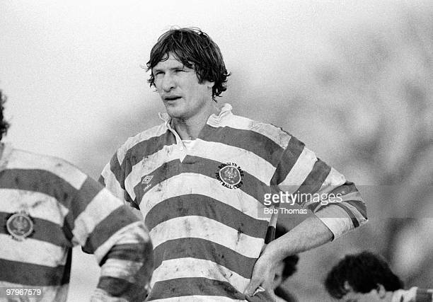 Andy Ripley of Rosslyn Park during the Nottingham v Rosslyn Park Rugby Union match played at Beeston Nottingham on the 19th January 1985 Nottingham...