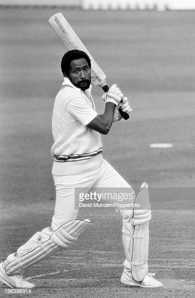 Andy Roberts batting for Leicestershire during their County Championship match against Worcestershire at New Road in Worcester 25th May 1984...