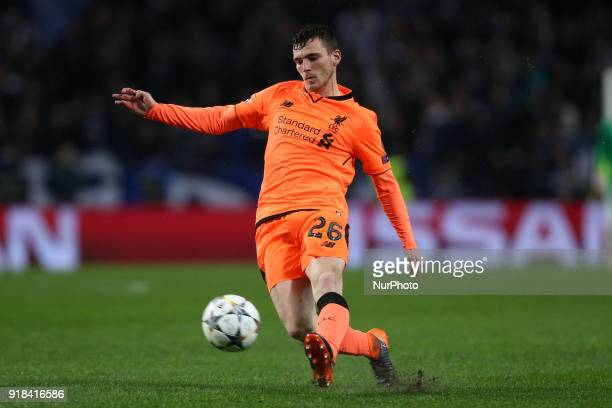 Andy Robertson defender of Liverpool in action during the UEFA Champions League match between FC Porto and Liverpool at Dragao Stadium in Porto on...