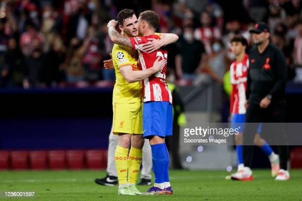 Andy Robertson of Liverpool FC, Kieran Trippier of Atletico Madrid during the UEFA Champions League match between Atletico Madrid v Liverpool at the...
