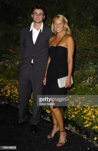 Andy Roddick and Anna Kournikova during 3rd Annual ' An Enduring Vision ' Fundraiser Arrivals at Pelican Hill Golf Club in Newport Beach California...
