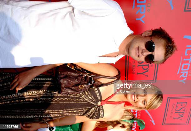 Andy Roddick and Maria Sharapova during Andy Roddick Host 13th Annual ESPY Awards PreParty Inside at Playboy Mansion in Beverly Hills California...