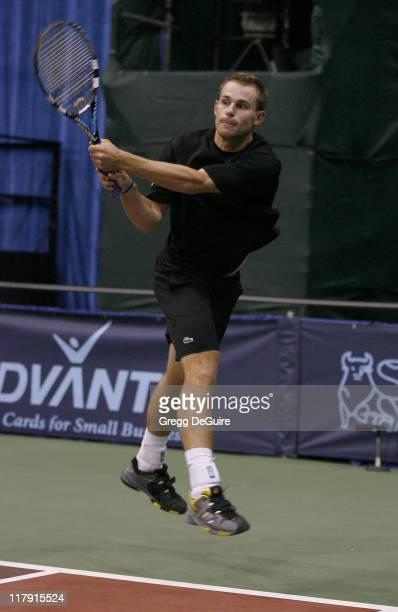 Andy Roddick at the Advanta WTT Smash Hits tennis event at the Bren Center at UC Irvine in Irvine California on September 14 2006
