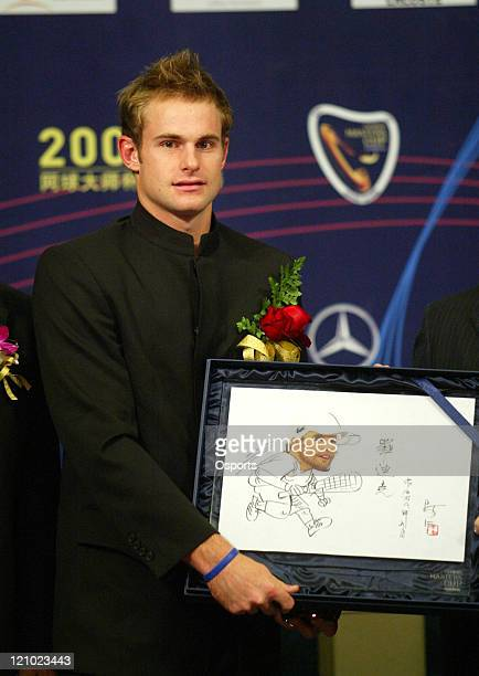 Andy Roddick during a press conference prior to the 2006 Masters Tennis Cup Shanghai in Shanghai China on November 11 2006