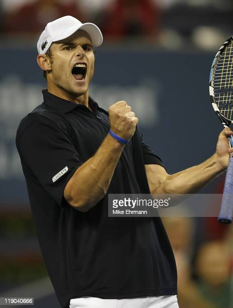 Andy Roddick during a second round match against Kristian Pless at the 2006 US Open at the USTA National Tennis Center in Flushing Queens, NY on...