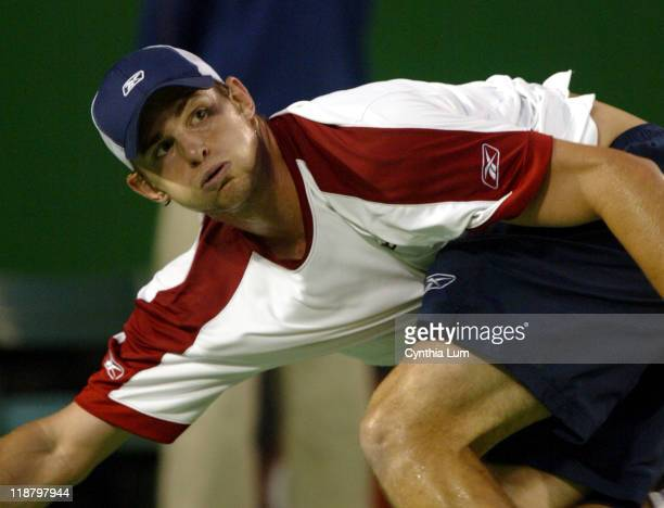 Andy Roddick during his quarter final match against Marat Safin during the Australian Open January 27 2004