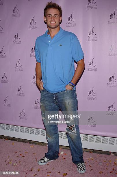 Andy Roddick during Maria Sharapova Launches New Fragrance at Angel Orensanz Foundation in New York City New York United States