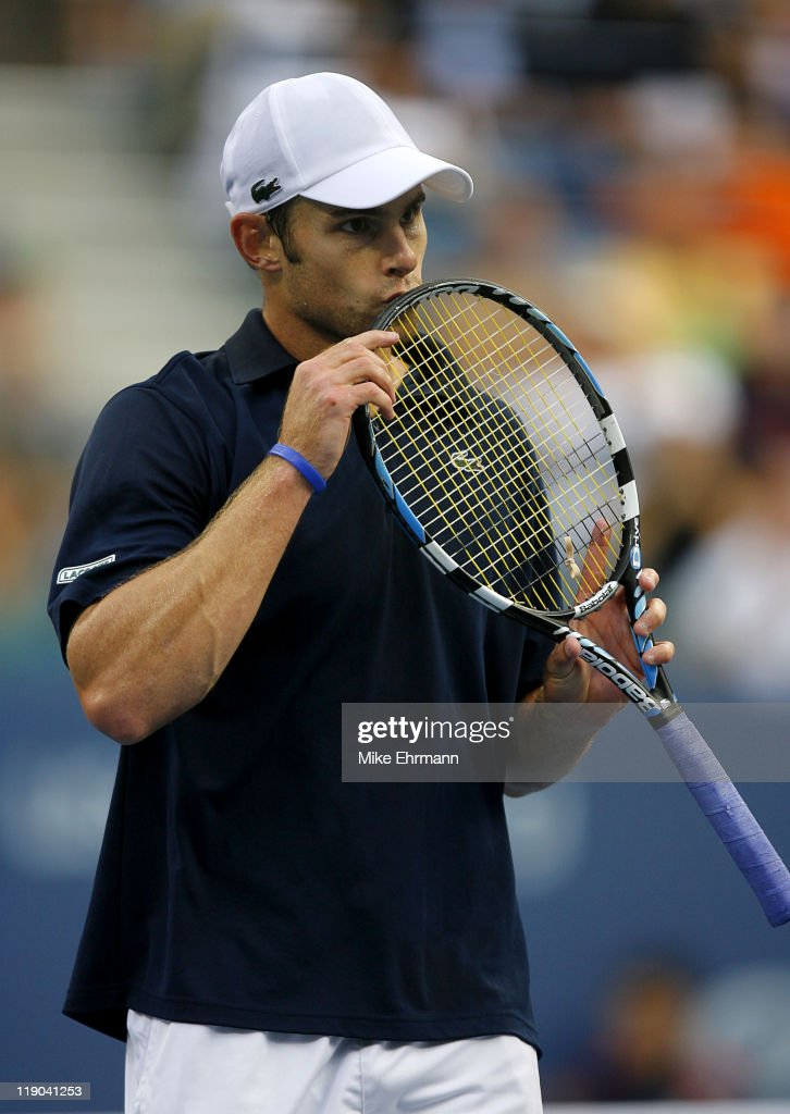 Andy Roddick during the mens final against Roger Federer at the 2006 US Open at the USTA National Tennis Center in Flushing Queens, NY on September 9, 2006.