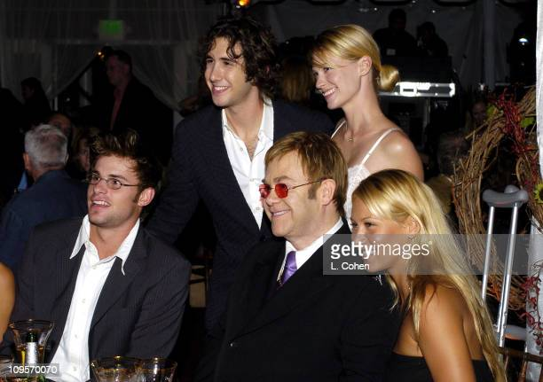 Andy Roddick Josh Groban January Jones Sir Elton John and Anna Kournikova