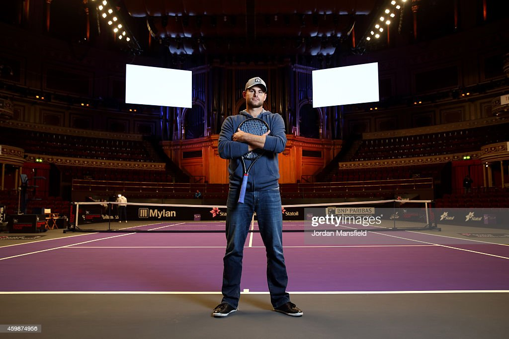 Andy Roddick poses for a photo ahead of day one of the Statoil Masters Tennis at the Royal Albert Hall on December 3, 2014 in London, England.