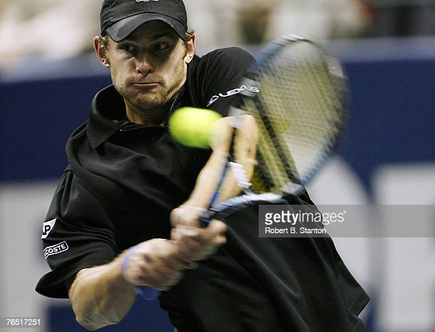 Andy Roddick was defeated by Andrew Murray in the semifinals of the ATP 2007 SAP Open, HP Pavilion, San Jose, California, February 17, 2007.